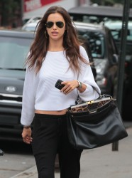 Irina Shayk Out & About In NYC October 6, 2012 HQ x 10
