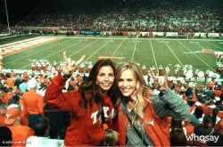Charisma Carpenter & Julie Benz - Twitter Pics from University of Texas Game 10-06-12
