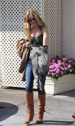 Heather Graham - at a restaurant in Los Angeles 10/08/12