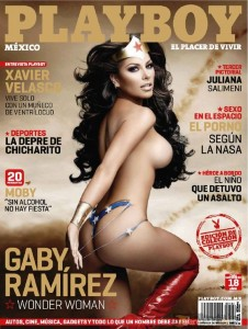 Gaby Ramirez en Playboy (Mujer Maravilla)