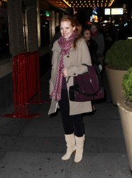 Jessica Chastain - arrives at the Walter Kerr Theatre in NYC 12/28/12
