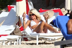 Victoria Silvstedt Bikini In St. Barts Jan 3, 2013 HQ x 19