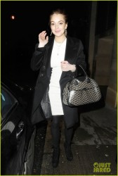 Lindsay Lohan - leaves The Rose Club in London 1/8/13