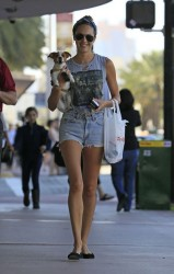 Candice Swanepoel - out and about in South Beach 1/15/13