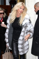 Victoria Silvstedt - leaving Cipriani restaurant in NY 1/15/13
