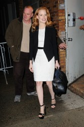 Jessica Chastain - at The Daily Show with Jon Stewart 1/16/13