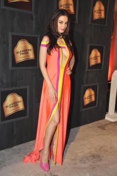 Evelyn Sharma[Bollywood actress] walks the ramp at 'Blenders Pride Fashion week' Mumbai