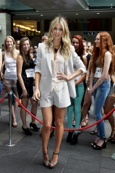 Jennifer Hawkins - audition for Season 8 of Australia's Next Top Model in Sydney 1/19/13