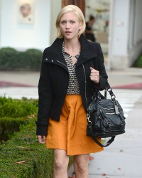 Brittany Snow - at a salon in LA 1/25/13