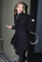 Leslie Bibb - dinner at Craig's in LA 1/29/13