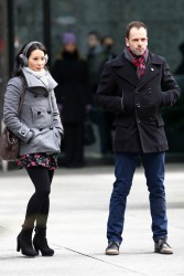 Lucy Liu - on the set of 'Elementary' in NYC 2/7/13