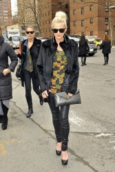 Ashlee Simpson - leaving Lincoln Center at NY Fashion Week 2/7/13
