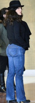 Salma Hayek, big ass in jeans x2