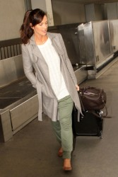Minka Kelly - arrives at LAX Airport 2/7/13