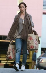 Minka Kelly - shops at Trader Joe's in West Hollywood 2/10/13