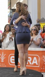 Maria Menounos - on the set of Extra in LA 2/15/13
