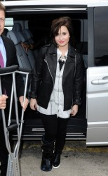 Demi Lovato - Unique Topshop show A/W 2013 at London Fashion Week 2/17/13