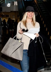 Kaley Cuoco - at LAX Airport 2/17/13