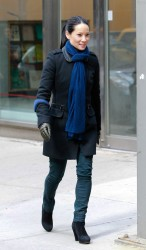 Lucy Liu - on the set of 'Elementary' in NYC 2/20/13