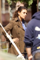 Mila Kunis - on the set of 'The Angriest Man in Brooklyn' in LA 2/20/13
