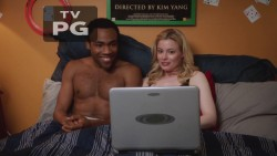 Gillian Jacobs in black bra and panties - Community S4E3(caps and vid)