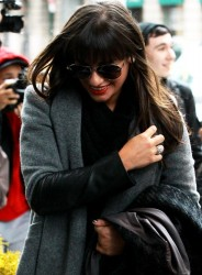 Lea Michele - arrives at her hotel in NYC 3/6/13