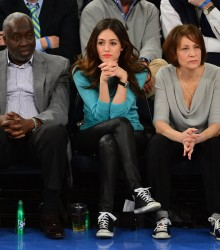 Emmy Rossum - Thunder vs Knicks game in NY 3/7/13