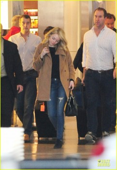 Emma Stone arriving at LAX March 14