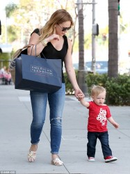 Hilary Duff - out in Beverly Hills 3/21/13