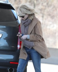 Emma Stone - at a gas station in Boston 3/24/13