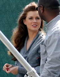 Amy Adams - on the set of Abscam in Boston 4/1/13