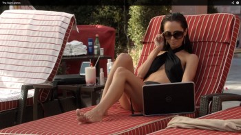 Eliza Dushku poolside in The Saint reboot trailer