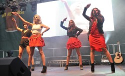 The Saturdays  - Minus Rochelle - Performing At Aintree Races 4th April 2013 - 79hq
