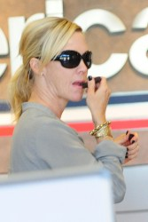 Jennie Garth - at LAX Airport 4/18/13