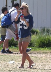 Britney Spears - At her sons soccer game in Woodland Hills 4/21/13