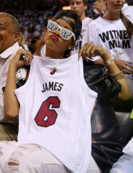 Rihanna - At Miami Heat Game 4/21/13