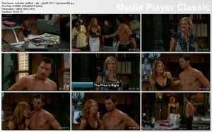 MICHELLE STAFFORD catfight cleavage - y&r - july 26, 2011 - *lingerie catfight cleavage*