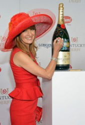 Jane Seymour - signs the Moet & Chandon 6L at the Kentucky Derby 5/4/13