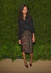 Zoe Saldana - Vogue & MAC Cosmetics dinner in LA 5/13/13