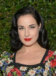 Dita Von Teese - Vogue &amp;amp; MAC Cosmetics dinner in LA 5/13/13