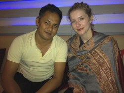 "Rachel Hurd-Wood - Behind the Scenes - ""Highway to Dhampus"" - Feb. '12 - 2 photos"