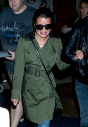 Lea Michele - at LAX Airport 5/16/13