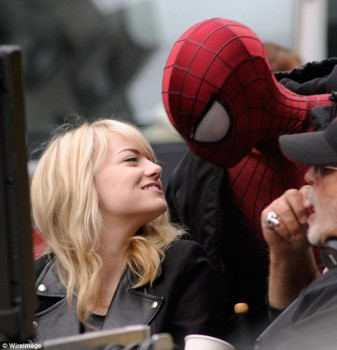 Emma Stone on the set of TASM2 5/18