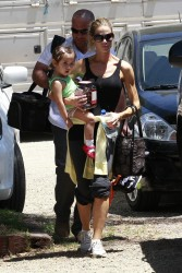 Denise Richards - Taking her kids horseback riding in LA 5/19/13
