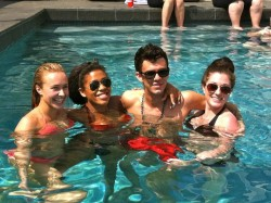 Hayden Panettiere in a Pool With Her Friends - May 2012