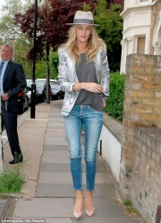 Rosie Huntington-Whiteley - out in London 5/21/13