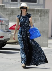 Emmy Rossum - at Drybar Hair Salon in Brentwood 5/22/13