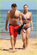 Olivia Wilde wearing a bikini in Hawaii 5/26/13