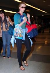 Ireland Baldwin - at JFK Airport in NYC 6/2/13