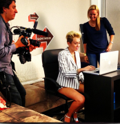 Miley Cyrus at Facebook HQ 6/3/13